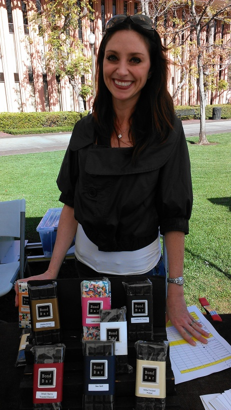 Kimberly of Bond Bars shows off her delectable chocolate treats.