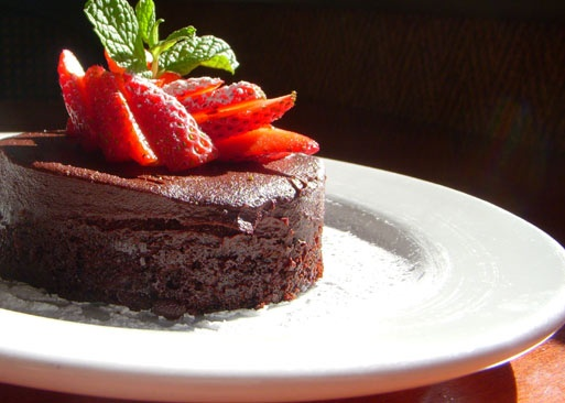 Delicious (and supposedly healthy?) vegan chocolate torte.