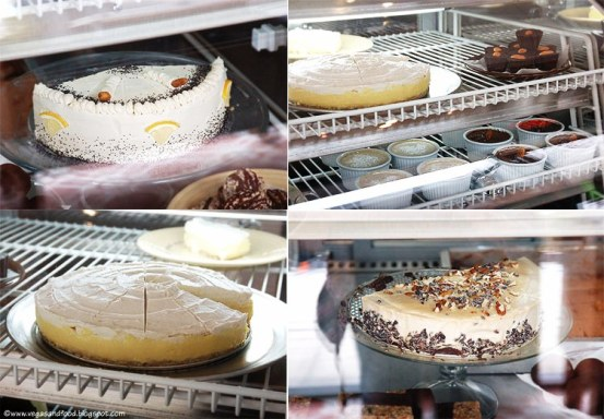 It's hard not to drool wantonly when you pass by the vegan dessert case!